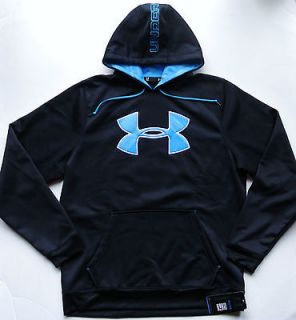 Under Armour Sweatshirt Big Logo Cold Gear Fleece Printed Hoodie M