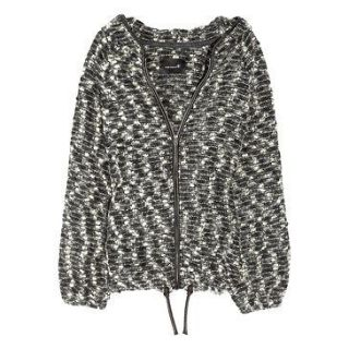 NWT ISABEL MARANT Dilber Boucle Leather Trim Hooded Jacket Size 3