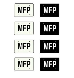 25 scale model Mad Max MFP Interceptor police car license tag plates