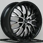 Black Wheels Rims Chevy Cobalt SS HHR Pontiac G5 G6 5x110 Lorenzo WL27