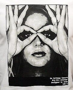 BRITNEY SPEARS Pop Star Icon Vintage Punk Rock Madonna T Shirt M