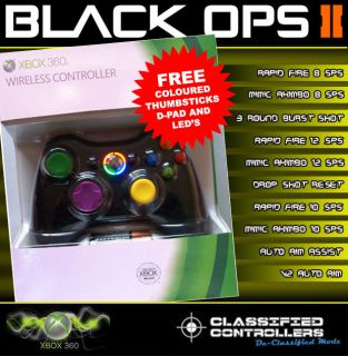 V2 10 Mode DROP SHOT Xbox 360 Rapid Fire Controller ,Modded, New