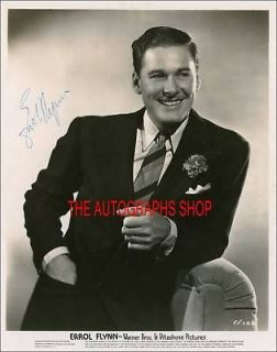 newly listed autograph errol flynn reprint  5