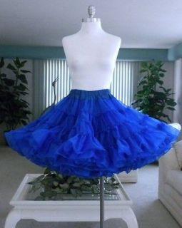 Vintage~ROCKABILLY SLIP~VERY FULL ROYAL BLUE PETTICOAT~Square Dance Co