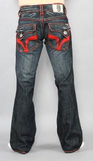 New Mens Laguna Beach Jeans Seal Beach Red Stitch Bootcut 32