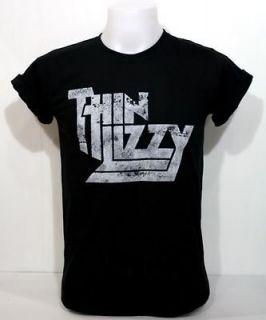 thin lizzy vintage black t shirt irish hard rock s