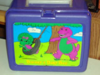 barney and baby bop lunch box 1992 lyons time left