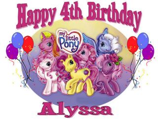 CUSTOM PERSONALIZED MY LITTLE PONY BIRTHDAY T SHIRT PARTY FAVOR GIFT