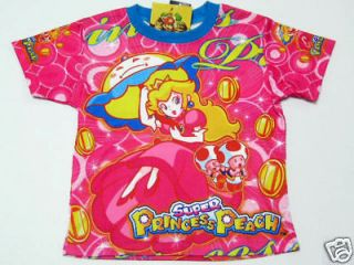 super mario princess peach girl t shirt sz 12 age 10 11