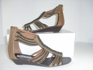 Steve Madden Cabezza Womens 7.5 M Sandals Thongs Gladiators Cognac
