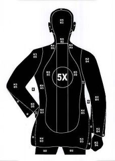 21 Style Police Pistol & Rifle Human Silhouette Shooting Targets