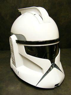 Star Wars Clone Wars Storm Trooper Helmet & Voice Changer  Near MINT