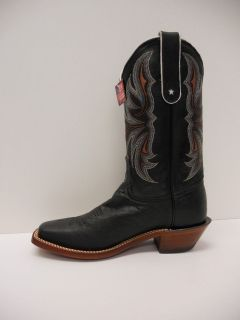 New In Box Womens Tony Lama E9784L Western Black Smooth Ostrich Cowboy