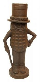 mr peanut man cast iron bank large rust measures 11