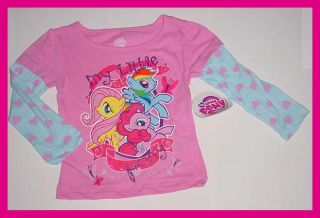 NEW My Little Pony Double Layer Sparkle Graphic T Shirt 2T 3T 4T 5T