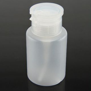 Nail Art Cleaning Bottle Cleaner Plastic Pump Bottle 150ml Container