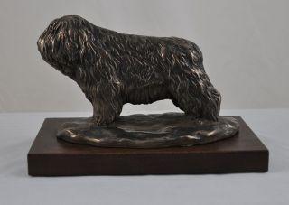 Polish Lowland Sheepdog statue figurine sculpture Limited Edition Art