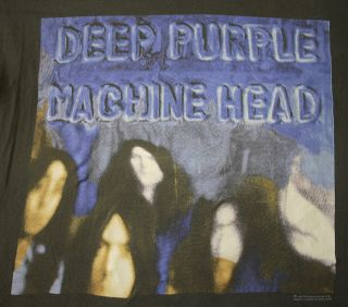 DEEP PURPLE vintage distressed 1993 t shirt   rock metal concert tour