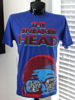 NIKE Jordan 3D Sneakerhead T Shirt sz M Medium Blue Mars Blackmon Air