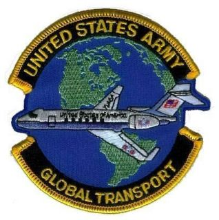 ARMY GULFSTREAM JET GLOBAL TRANSPORT VIP MARYLAND AVIATION PATCH