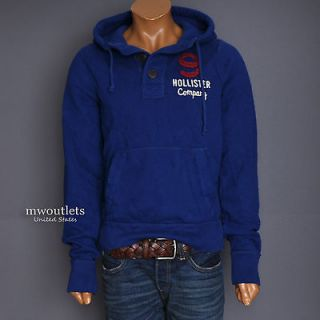 New Hollister Mens Parka Seaside Button Sweatshirt Pullover Hoodie