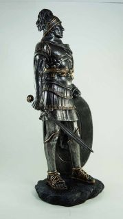 LARGE MEDIEVAL ROMAN WARRIOR SWORD AND SHIELD CENTURION STATUE