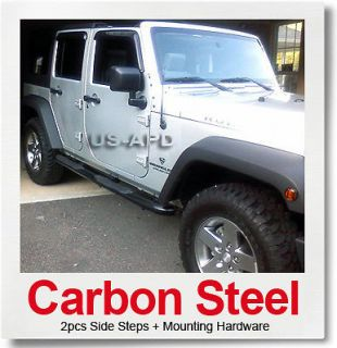 07 11 2011 jeep wrangler 4dr black nerf bars fits