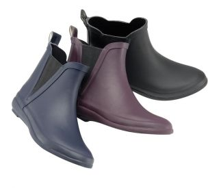 WOMENS LADIES NEW DEALER CHELSEA BOOT FITTING SHORT WELLIES