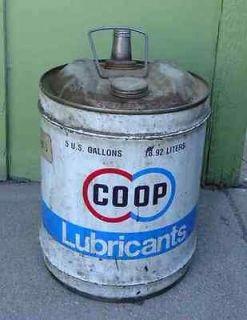 gallon oil can coop libricants logo indol oil no