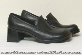 womens black leather shoes tony by steve madden size 7