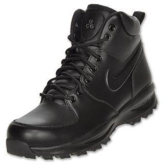nike acg manoa leather mens casual shoes black black black