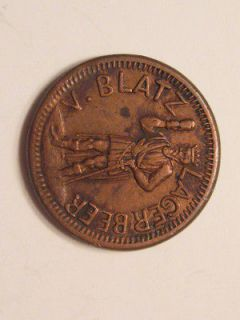 MILWAUKEE, WI WISCONSIN CWT CIVIL WAR TOKEN BLATZ BREWERY ALCOHOL BEER
