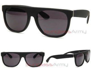 MATTE BLACK FLAT TOP Sunglasses super retro future wayfarer madness