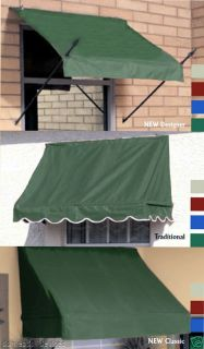Window & Door Awning 4,6,8 DIY Awnings Forest Green