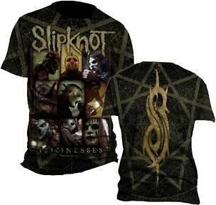 LICENSED SLIPKNOT SICKNESS ROCK METAL BAND MUSIC ADULT SHIRT XL