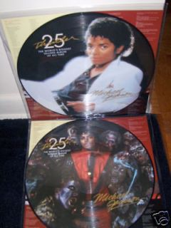 MICHAEL JACKSON THRILLER DOUBLE VINYL PICTURE DISC NEW $19.99