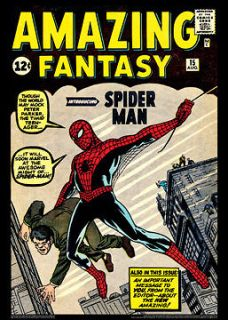 AMAZING FANTASY #15 (Spider Man Debut Aug. 1962) Marvel Comics Poster