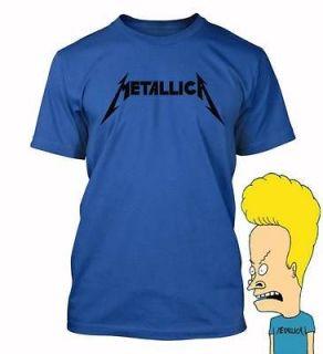 Metallica black logo T shirt Hard rock Beavis Butt Head party costume