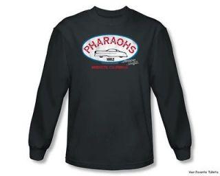 Officially Licensed American Graffiti Pharaohs Long Sleeve Shirt S 2XL
