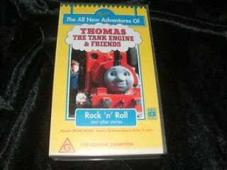 THOMAS THE TANK ENGINE AND FRIENDS ROCK .N. ROLL~VHS VIDEO PAL~ A RARE