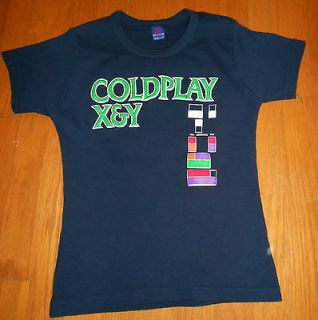 COLDPLAY Chris Martin X&Y Tour Band Knit Top Shirt Ladies Women Black