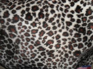 FAUX FUR FABRIC ANIMAL PRINT VELBOA VERY SOFT .SMALL LEOPARD 602