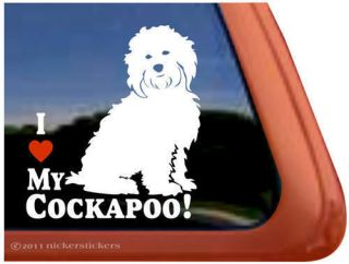 LOVE MY COCKAPOO ~ High Quality Dog Auto Vinyl Window Sticker Decal