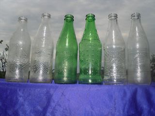 Vintage Bottles No Deposit Mountain Dew Coke Pepsi Sunrise Kist