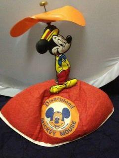 VERY RARE Mickey Mouse Disneyland Twirly Ear Felt Hat Very Old.