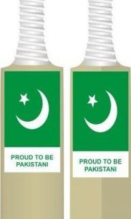 BRAND NEW CRICKET BAT PAKISTAN FLAG STICKERS PROUD TO BE PAKISTANI