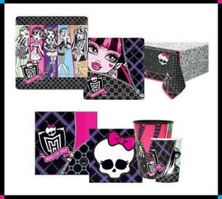monster high skullette birthday party supplies balloon plate napkin