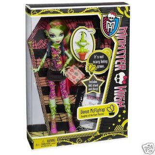 MONSTER HIGH VENUS MCFLYTRAP DOLL ACTION FIGURE MCFLY TRAP MATTEL WITH