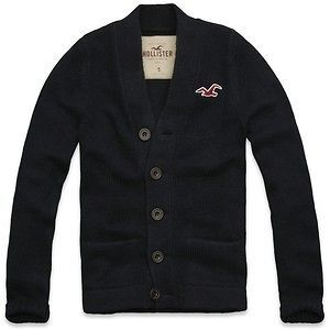 NWT HOLLISTER BY ABERCROMBIE & FITCH ORANGE COUNTY SWEATER NAVY OR
