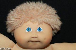 Cabbage Patch Kids Vintage Jesmar Spain Tan Fuzzy/Blue #3 Boy Doll